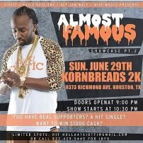 Almost Famous Showcase pt 2 hosted by 97.9fm KBXX's Kiotti